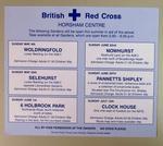 poster advertising gardens open in aid of Horsham Centre