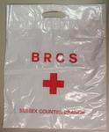plastic bag printed 'BRCS Sussex Counties Branch'