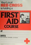 general poster for advertising a First Aid course
