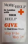 Poster promoting Red Cross Week in London