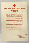 Poster promoting British Red Cross services for the elderly