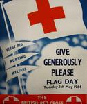 Poster promoting a British Red Cross flag day, 1964