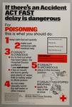 Poster promoting what to do in case of poisoning