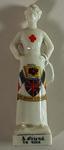 Porcelain figure of a Red Cross nurse
