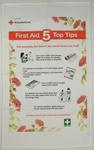 First Aid Tips tea towel