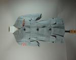 Ladies linen Tropical short sleeved jacket, grey.