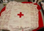 Quilt with signatures of members of Midlothian Red Cross