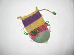 Woollen and crochet bag decorated with beadwork