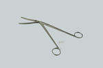 Large pair of cheatle forceps, used for taking medical equipment out of sterilisers.