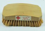 Hairbrush, with sticker: 'A gift from the Australian Red Cross Society'.