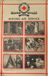 One of a set of posters mounted on card, each contains set of photographs with captions: Nursing Aid Service