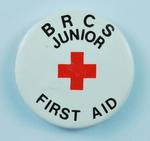 Junior Red Cross badge: First Aid