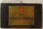 brass ambulance plate