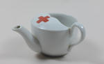 small china feeding cup with emblem