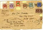 envelope with St Lucia stamps