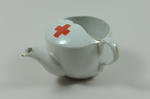 Feeding cup, small, with gold rim, emblem.