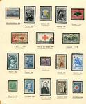 Commemorative Red Cross postage stamps