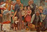 oil on canvas: Die Speisung