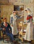 Painting of the interior of Shrubland Park Hospital, Barham, Suffolk, First World War