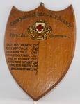 Wooden shield: Cambridgeshire & Isle of Ely Branch First Aid