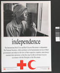 Poster illustrating the Fundamental Principles of the International Red Cross: Independence.