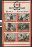 One of a set of large posters illustrating the services of the British Red Cross: Medical Loans Depots.