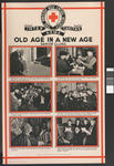One of a set of large posters illustrating the services of the British Red Cross: Old Age in a New Age. Senior Clubs.
