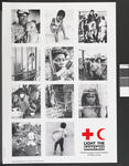 Large poster produced for the Light the Darkness - World Campaign for the Protection of Victims of War: