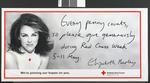 Red Cross Week poster featuring Elizabeth Hurley, 1995