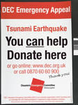 Poster issued by the DEC for the Tsunami Earthquake appeal