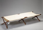 Camp bed used by Major William B Millbanke TD, 7th Bt. Durham Light infantry when serving with RAMC in France.