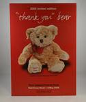 "A4 carboard poster, Red Cross Week 2005 ""Thank You"" Bear Campaign"