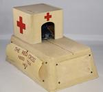 British Red Cross mechanical collecting box with roll out model ambulance