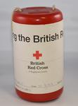 Plastic cylindrical British Red Cross collecting box