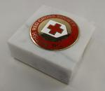 Small marble paperweight with The British Red Cross Society emblem
