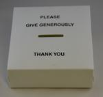 White plastic collecting box