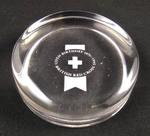 Glass paperweight to commemorate the 125th Birthday of the British Red Cross in 1995