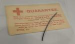 Piece of 'Zeppelin wire' sold in aid of British Red Cross