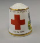 Thimble in presentation box: 'Active in Peace As In War'