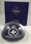 Edinburgh Crystal British Red Cross paperweight in presentation box