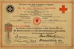Order of St John of Jerusalem Nursing Certificate for Nelly Robins, March 1916