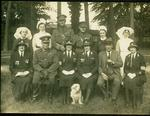 photograph of a group of men and women at a VAD Camp at Osborne, Isle of Wight