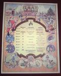 Colour reproduction of a Christmas menu at Oflag IX/A2, 1943