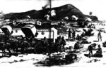 The battle of Magersfontein during the Boer War