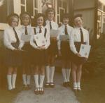 Group of Six Young Cadets holding Certificates