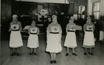 Inspection and Display [in Church Hall after Parade] by the Farnham Division, Surrey