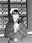 British Red Cross volunteer providing first aid cover at the Barbican Centre