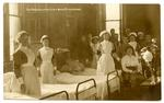 Patients and staff at Early Bank Red Cross Hospital in Stalybridge, Cheshire
