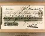 Reproduction of cheque for £750,000