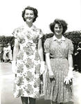 Black and white photograph of the opening of Junior Red Cross convalescent home Cliffe Combe, 1 July 1949
